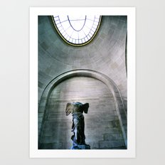 Statue of Winged V Art Print