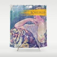 bohemian Shower Curtains featuring Bohemian by PixelFarmer