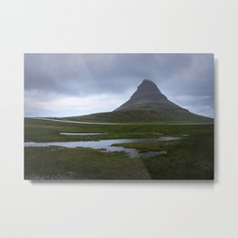 Kirkjufell in the rain - Iceland Metal Print