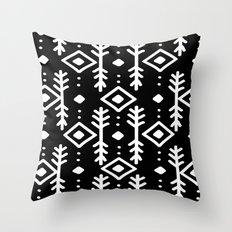 BLACK NORDIC Throw Pillow