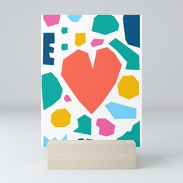 Colourful Heart Mosaic Mini Art Print