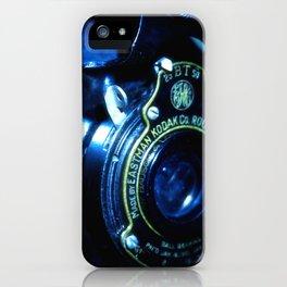 Capturing Yesteryear a vintage Kodak folding camera photograph iPhone Case