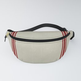 Vintage French Country Grainsack Berry on Linen for Twin and XL Twin bedding Fanny Pack