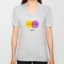 The Venn of Improv (Yellow/Violet) Unisex V-Neck