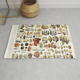 Adolphe Millot - Champignons A - French vintage poster Rug