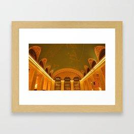 Grand Central Ceiling Framed Art Print