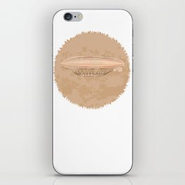Airship in graphic style. Beige colors.  iPhone Skin