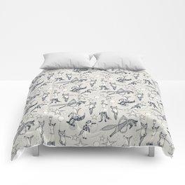 foxy circus indigo ivory Comforters