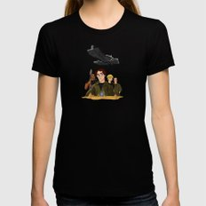 Disney SG1 LARGE Black Womens Fitted Tee