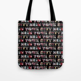 New York City (typography) Tote Bag