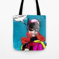 batgirl Tote Bags featuring Batgirl by Ed Pires