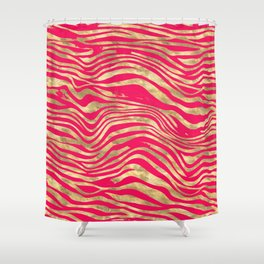 pink pussy tabbie cat & ginger tom Shower Curtain