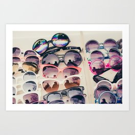 Sunglasses, Paris street market Art Print