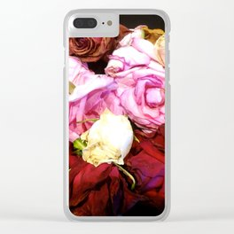 Victorian Roses Clear iPhone Case