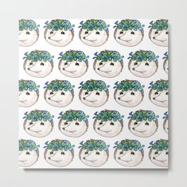 Hedgehogs pattern Metal Print