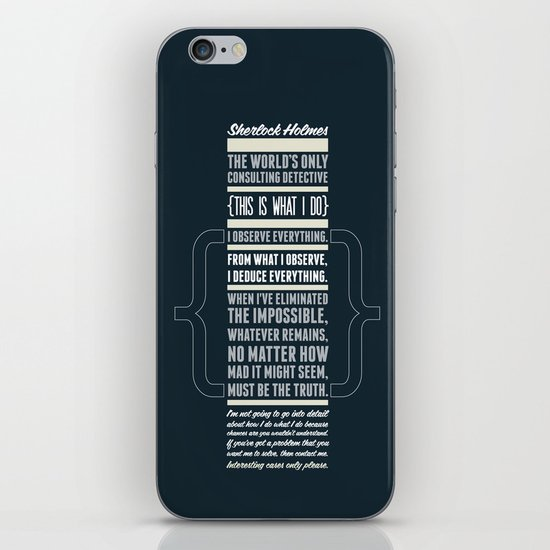 Sherlock - The Great Consulting Detective. iPhone & iPod Skin
