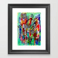 Finger's city Framed Art Print