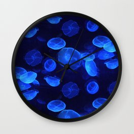 Bue Jellyfish Wall Clock