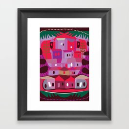 Cow in Downtown Los Angeles Framed Art Print