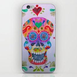 Mexican Calaca Sugar Skull Painting iPhone Skin