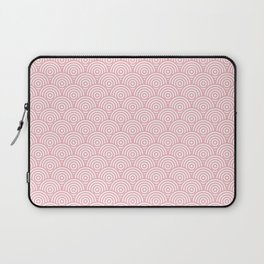 Coral Concentric Circle Pattern Laptop Sleeve