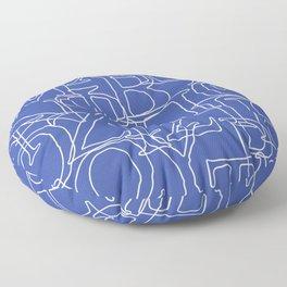 Greek Alphabet Floor Pillow
