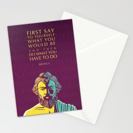 Epictetus Inspirational Stoic Quote: Do What You Have To Do Stationery Cards