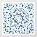Snowflake Denim & White by allycoxon