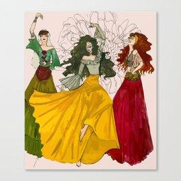 Romani Dances Canvas Print