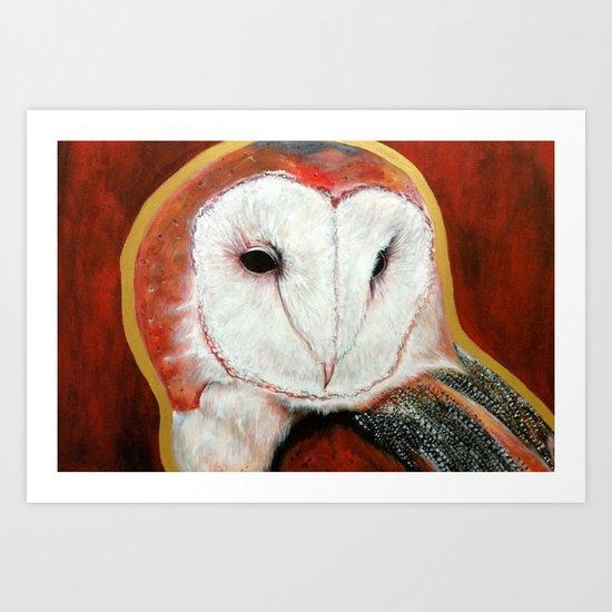 Dos Owl Art Print
