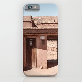 House In Morocco Art Print | Old Wooden Door Summer Sunlight Art Photo | Digital Travel Photography iPhone Case