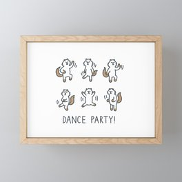 Moo Dance Party Framed Mini Art Print
