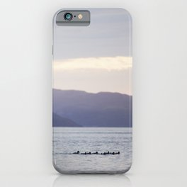 Sunset with the loons iPhone Case