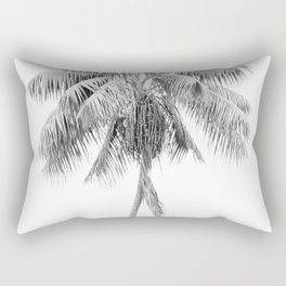 Palm in Black and White Rectangular Pillow