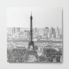 Eiffel Tower with Paris Skyline (France, Europe) Metal Print