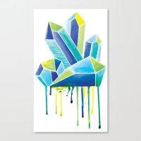 crystals Canvas Prints featuring Crystals by Liz Urso