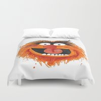 animal crew Duvet Covers featuring Animal by Cookstar