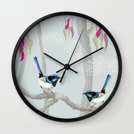 Blue Wren Australian Birds Wall Clock