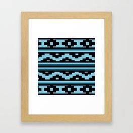 Etnico blue version Framed Art Print