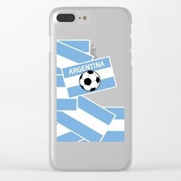 Argentina Football Clear iPhone Case