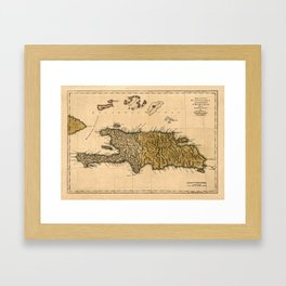 Map Of Hispaniola 1762 Framed Art Print