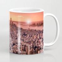 Manhattan in red Mug