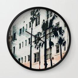 palm mural venice ii Wall Clock