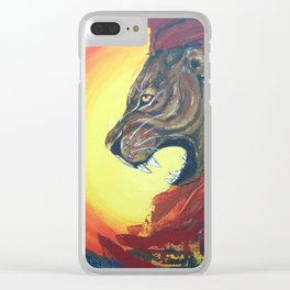 Lion's Roar Clear iPhone Case