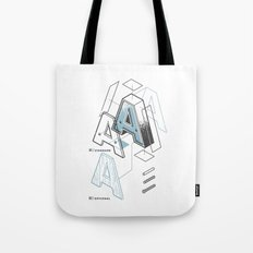 The Exploded Alphabet / A Tote Bag