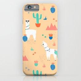 Summer Llamas iPhone Case