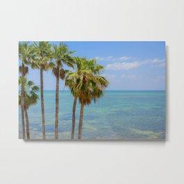 Palms in Paradise Metal Print