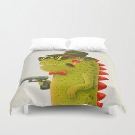 Dino bandito (olive) Duvet Cover