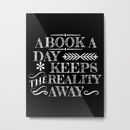 A Book A Day... Metal Print