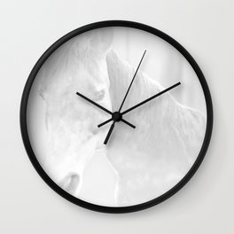 Island Horse - Soft Grey Wall Clock